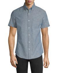 Bonobos - Slim-fit Dotted Cotton Button-down Shirt - Lyst