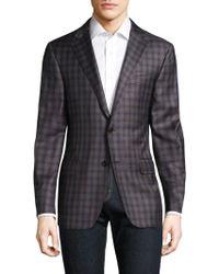 Hickey Freeman - Checkered Wool Blazer - Lyst