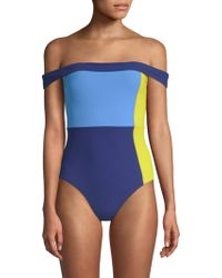 Flagpole Swim - Gia Off-the-shoulder One-piece - Lyst