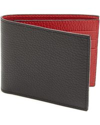Saks Fifth Avenue - Leather Bi-color Billfold Wallet - Lyst