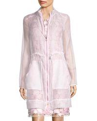Elie Tahari | Nicolette Silk Coat | Lyst
