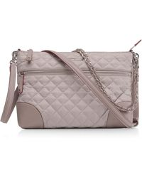 MZ Wallace - Quilted Zippered Crossbody Bag - Lyst