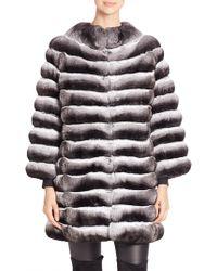 Saks Fifth Avenue - Chinchilla Fur Jacket - Lyst