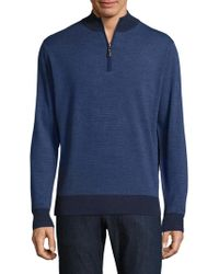 Peter Millar - Striped Merino Wool Pullover - Lyst