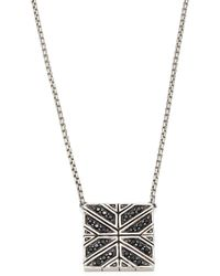 John Hardy - Modern Chain Black Sapphire & Sterling Silver Pendant Necklace - Lyst