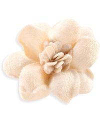 Hook + Albert - Light Velvet Lapel Flower - Lyst