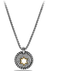 David Yurman - Cable Collectibles Star Of David Charm Necklace With Diamonds And 18k Gold - Lyst