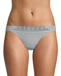 Maison Lejaby - Romance Embroidered Thong - Lyst