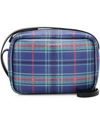 Balenciaga - Everyday Plaid Leather Camera Bag - Lyst