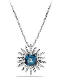 David Yurman - Starburst Necklace With Diamonds In Silver, 23mm - Lyst