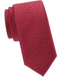 Charvet Melange Silk Tie - Red