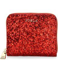 Furla - Babylon Leather Zip-around Glitter Wallet - Lyst
