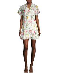Parker - Natalie Floral Mini Dress - Lyst