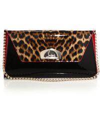 Vero Dodat Leopard Leather Clutch