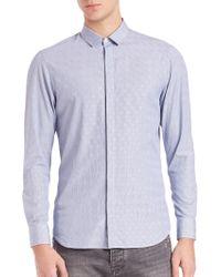 Giorgio Armani - Tonal Paisley Striped Button-down Shirt - Lyst