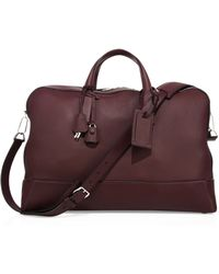 Brioni - Leather Duffle Bag - Lyst