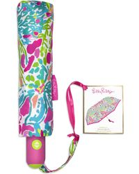 Lilly Pulitzer - Printed Travel Umbrella - Lyst