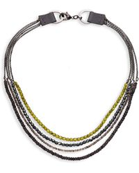 Peserico - Layered Short Chain Necklace - Lyst