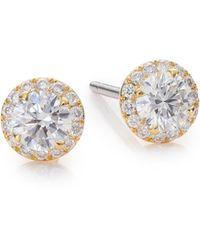 Marli - Fifi Diamond & 18k Yellow Gold Femme Super Stud Earrings - Lyst