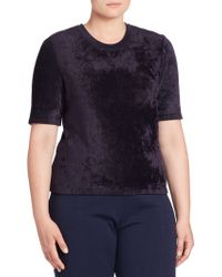 Stizzoli - Solid Short Sleeve Top - Lyst
