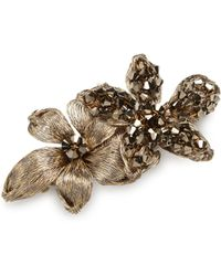 Colette Malouf - Stromboli Swarovski Crystals Mesh Florette Barette - Lyst