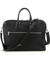 Bally - Sagistal Grained Calf Leather Briefcase - Lyst