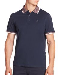 AG Green Label - Solid Short Sleeve Polo Shirt - Lyst
