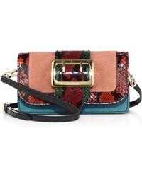 122ef5f71d47 Burberry - Mapleton Patchwork Multicolor Snakeskin   Leather Shoulder Bag -  Lyst