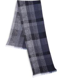 Strellson - Wool Blend Checkered Scarf - Lyst