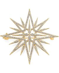 Adriana Orsini - Holiday Pave Crystal Star Brooch - Lyst