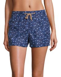 Thorsun - Athena Bird-print Swim Shorts - Lyst