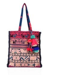 Figue | Samoa Floral-embroidered Canvas Tote | Lyst