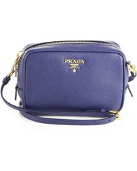 ... where to buy prada saffiano leather camera bag lyst 87269 7f3d6 89a5d39f6b5ee