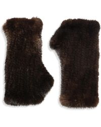 Surell - Fingerless Mink Gloves - Lyst
