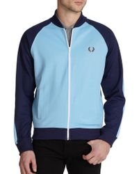 Fred Perry - Cotton-blend Colorblock Track Jacket - Lyst