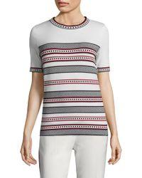 ESCADA - Striped Short Sleeve Tee - Lyst