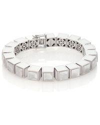 Eddie Borgo - White Lace Agate Inlaid Small Cube Bracelet - Lyst