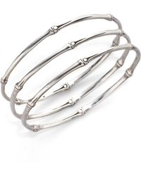 John Hardy | Bamboo Sterling Silver Slim Bangle Bracelet Set | Lyst