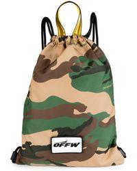 Off-White c/o Virgil Abloh - Camouflage Backsack - Lyst