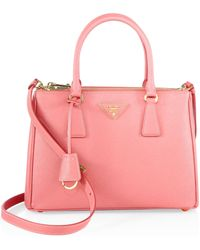 Prada - Saffiano Lux Small Double-zip Satchel - Lyst