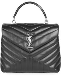 a4b815a0bad1 Saint Laurent Yligne Cabas Mini Leather Bag Dark Brown in Brown - Lyst