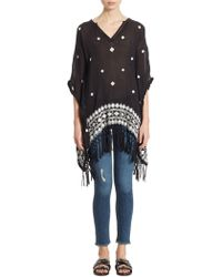 Alice + Olivia | Liana Embroidered Caftan | Lyst