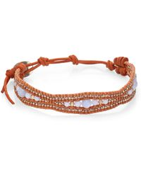 Chan Luu - Blue Lace Agate & Leather Bracelet - Lyst