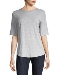 Eileen Fisher - Crewneck Cotton Tee - Lyst