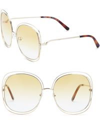 Chloé | Carlina 60mm Oversized Round Sunglasses | Lyst