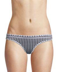 Same Swim - Women's The Everything Gingham Bikini Bottoms - Gingham - Size Large - Lyst