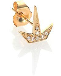 Sydney Evan - Diamond & 14k Yellow Gold Starburst Single Stud Earring - Lyst