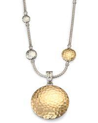 John Hardy - Palu 18k Yellow Gold & Sterling Silver Medium Round Enhancer - Lyst