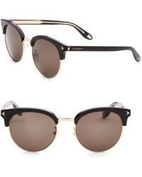 Givenchy - 55mm Half-rim Round Sunglasses - Lyst