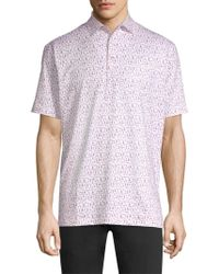 Peter Millar - Corkscrew Print Polo Shirt - Lyst